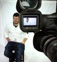Ryan at a video shoot
